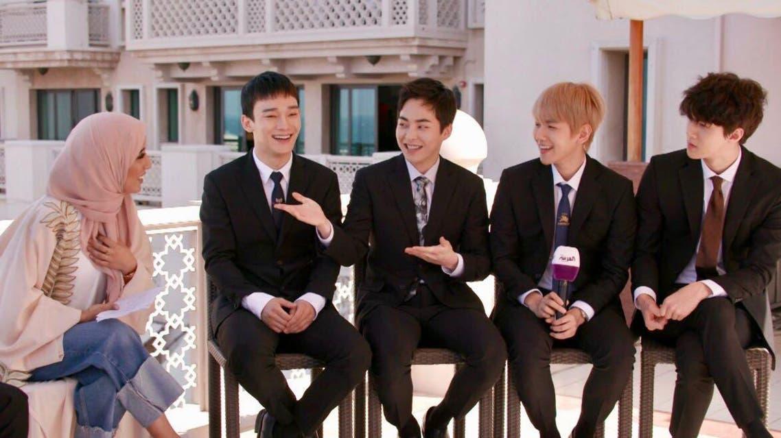 Al Arabiya interviews K-POP band EXO during their visit in Dubai