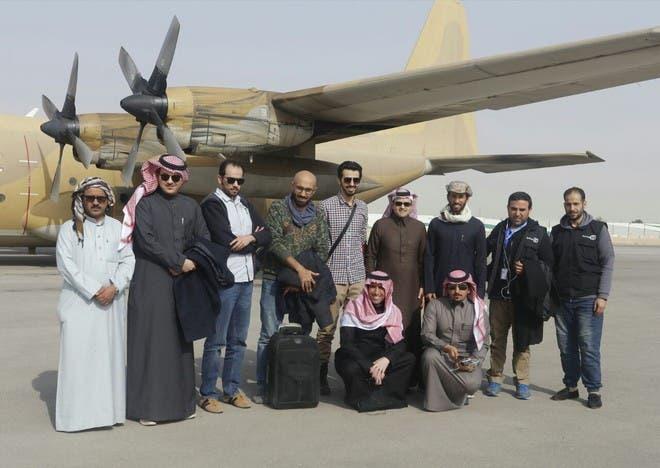 مشاهير وفنانين سعوديين لدى وصولهم إلى مأرب