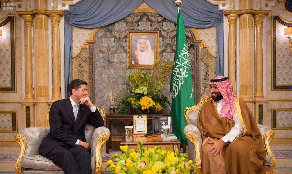 سعودی ولي العہد شہزادہ محمد بن  سلمان اور پال ریان