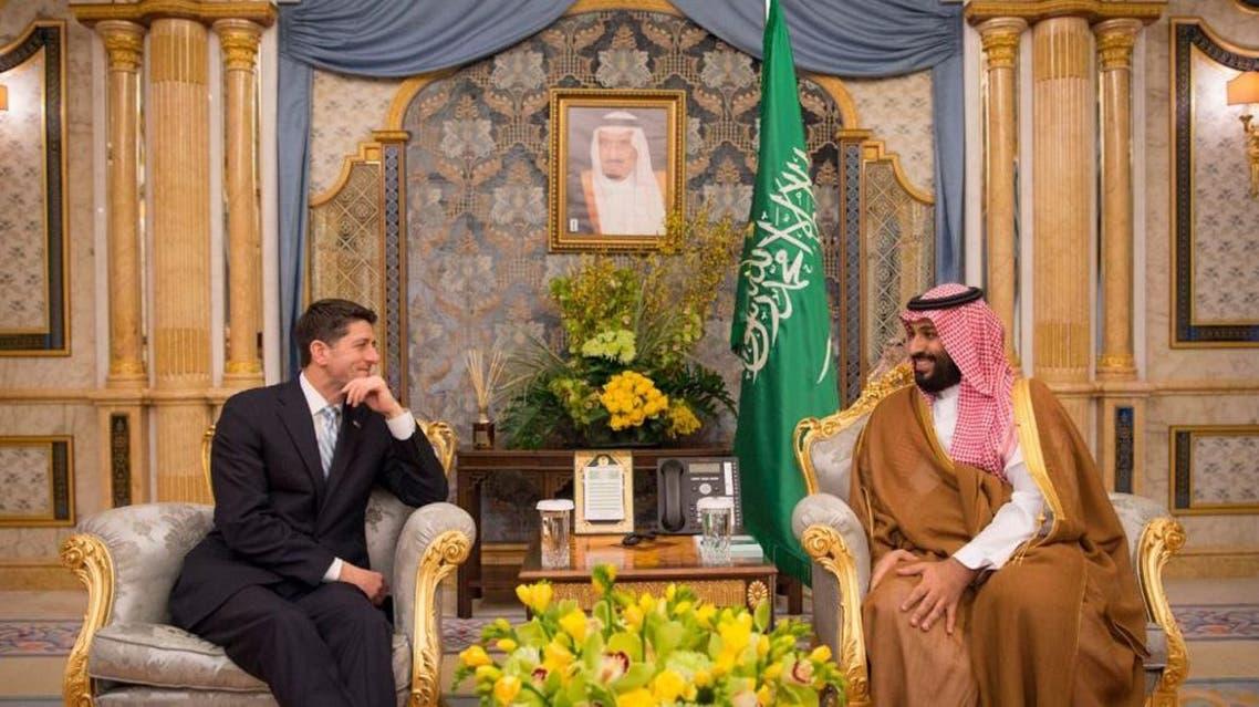 ولي العهد مع رئيس مجلس النواب الأمريكي بول رايان