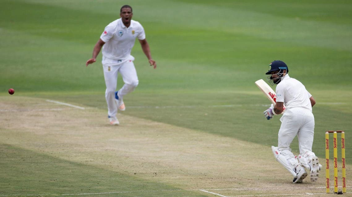 India's Virat Kohli plays a shot off the bowling of South Africa's Vernon Philander. (Reuters)