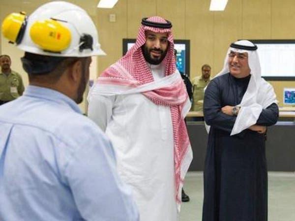 """شاهد محمد بن سلمان يفاجئ عاملي المياه: """"حبيت أشكركم"""""""