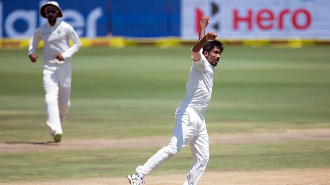 India's Jasprit Bumrah celebrates after taking the wicket of South Africa's Hashim Amla. (Reuters)
