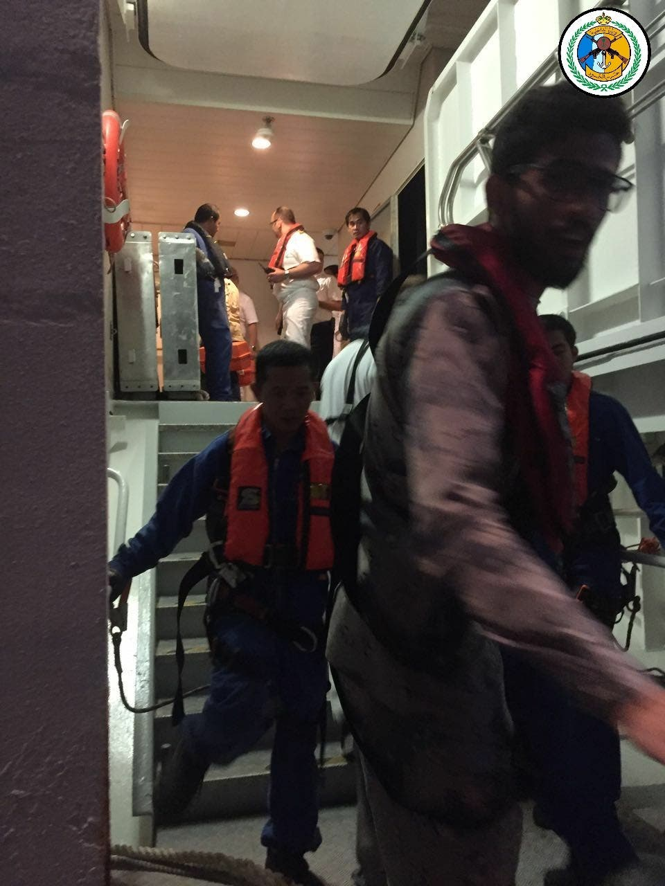 أثناء عملية الإنقاذ
