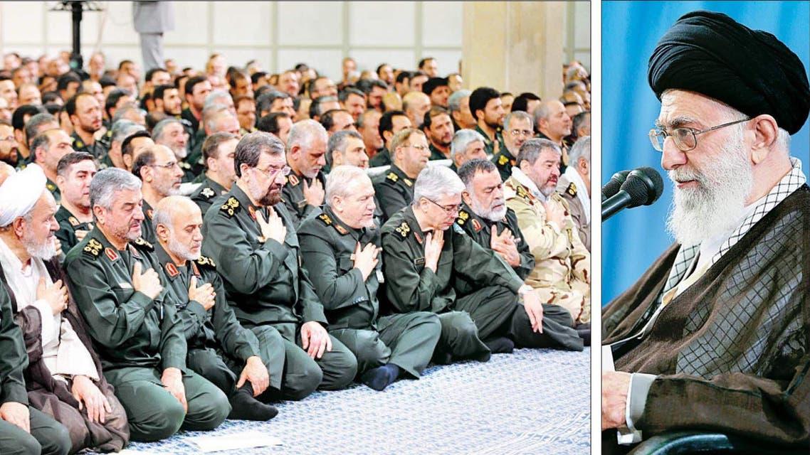 خامنئي وقادة الحرس الثوري