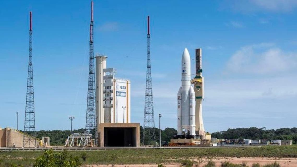 The satellite is currently at a launchpad in French Guiana and lift-off is set for the early hours of Friday morning. (Dubai Media Office)