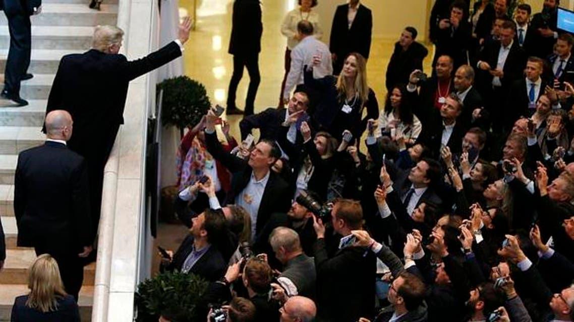 حشود استقبلت ترمب في دافوس