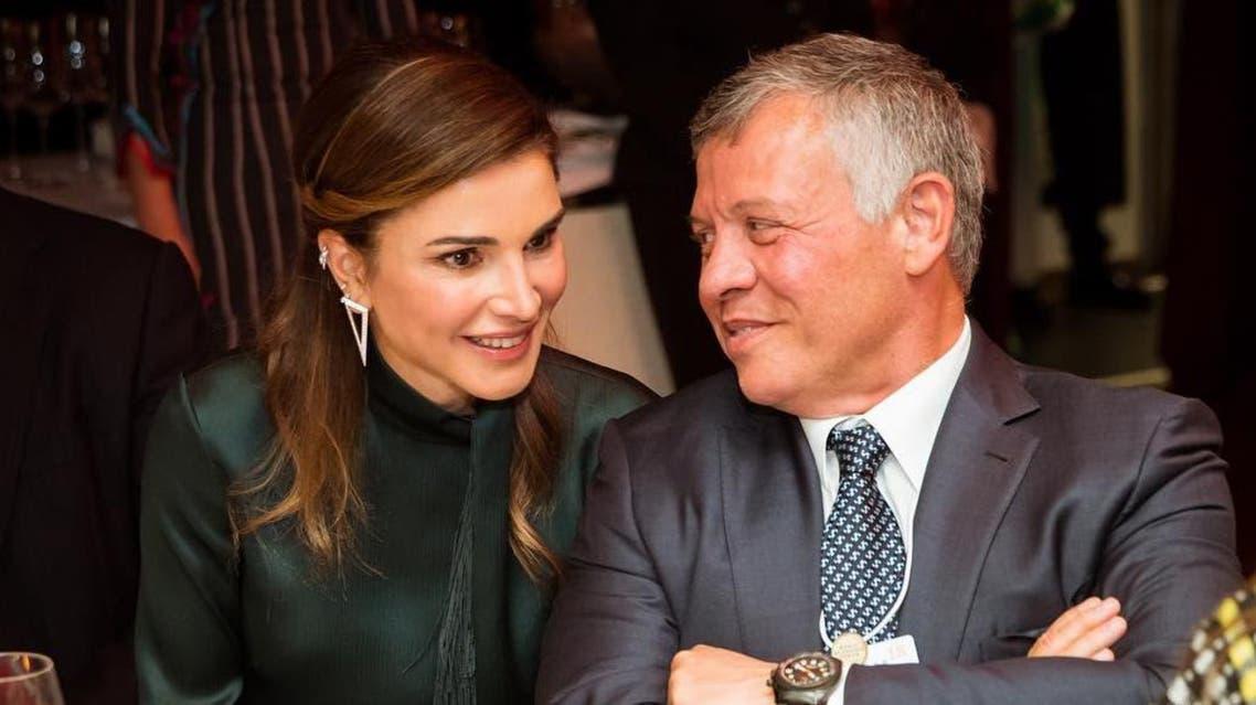 الملكة رانيا برفقة الملك عبدالله