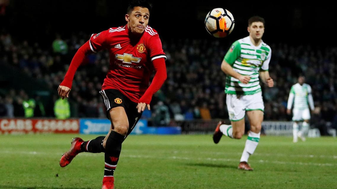 Manchester United's Alexis Sanchez in action against Yeovil Town. (Reuters)
