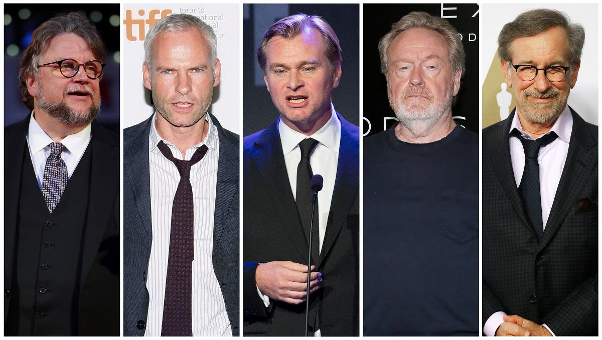 Nominees for the 75th Golden Globe Awards, Best Director, Motion Picture category, (L-R) Guillermo del Toro, Martin McDonagh, Christopher Nolan, Ridley Scott and Steven Spielberg are seen in a combination of file photos. (Reuters)