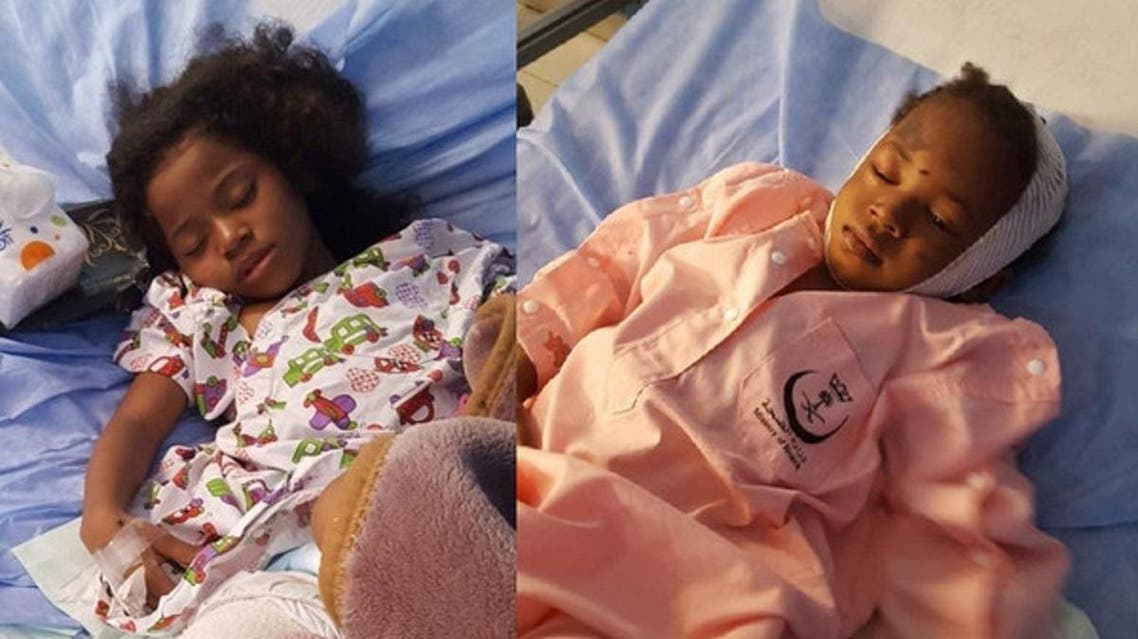 Sadi and Ghada in the hospital (Supplied)