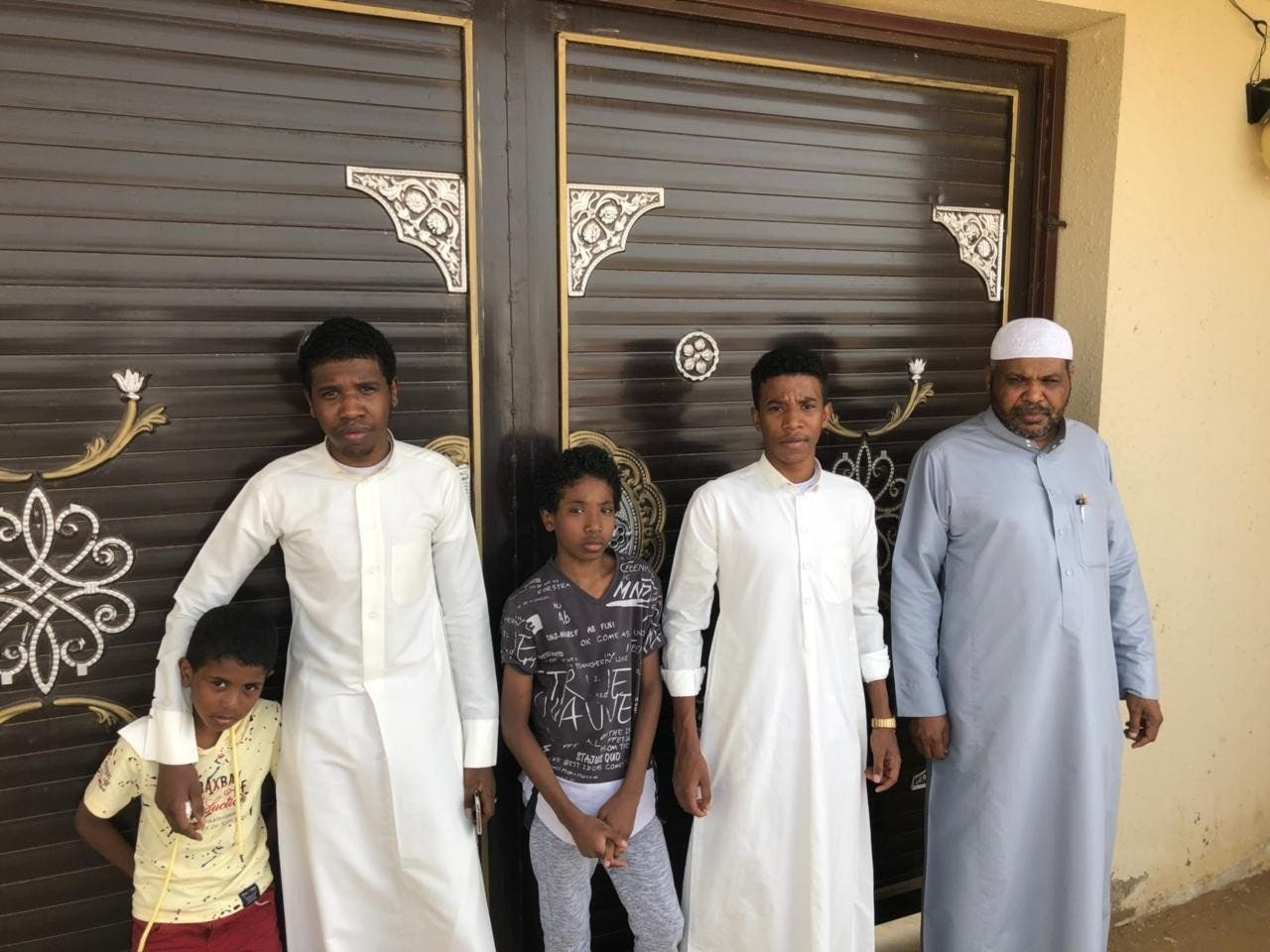 Husband and sons of deceased Zaynab. (Supplied)