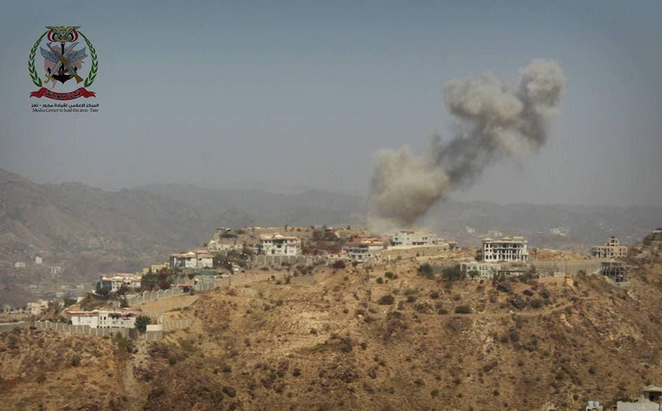 قصف لطيران التحالف على مواقع عسكرية حوثية في تعز
