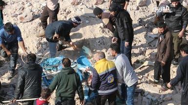 المرصد: النظام السوري يوشك على دخول مدينة سراقب