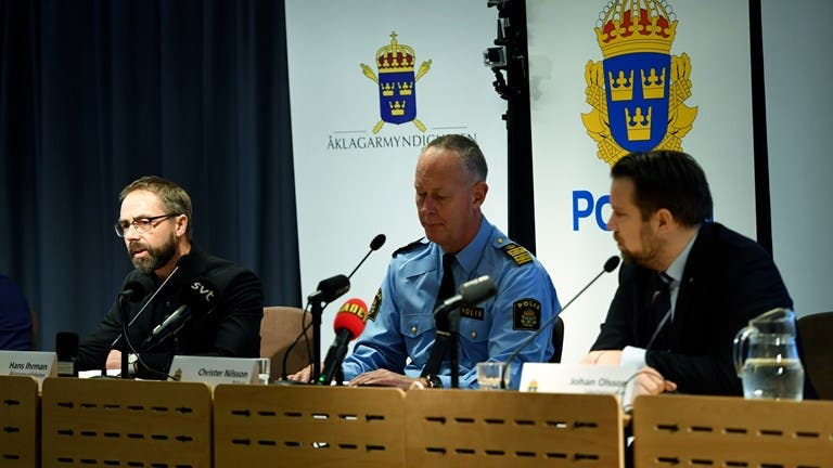 المؤتمر الصحفي للادعاء العام والشرطة السويدية
