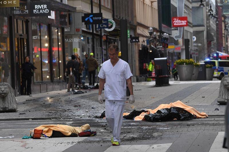جثث ضحايا هجوم ستوكهولم