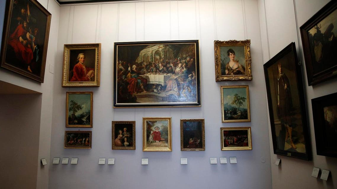Paintings looted by Nazis during World War II, are on display at the Louvre museum, in Paris, Tuesday, Jan. 30, 2018. (AP)