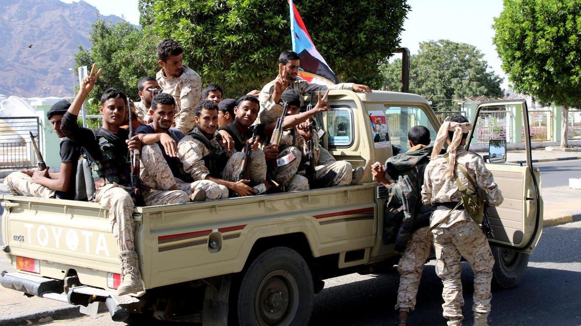 مقاتلون انفصاليون في عدن 29-1-2018