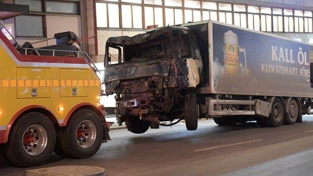 الشاحنة التي استخدمت في الهجوم