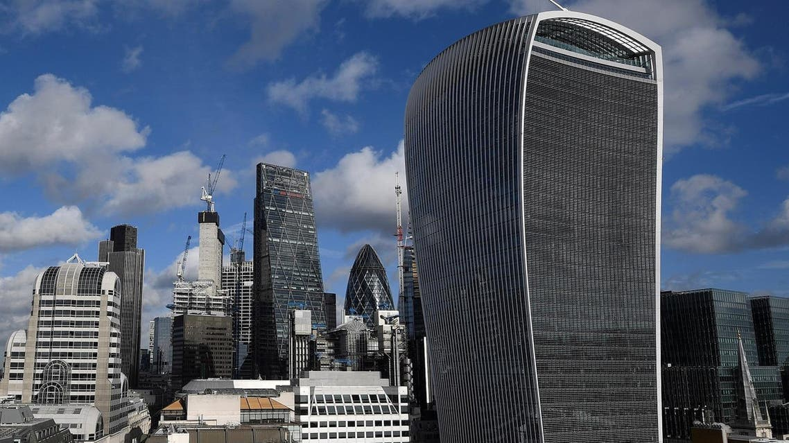 The City of London financial district is seen with office skyscrapers commonly known as 'Cheesegrater', 'Gherkin' and 'Walkie Talkie' seen in London. (Reuters)
