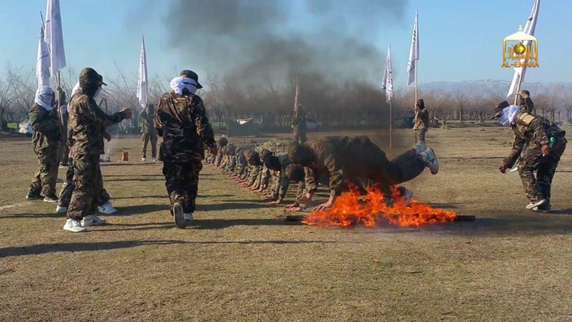 عناصر من طالبان في معسكر تدريب