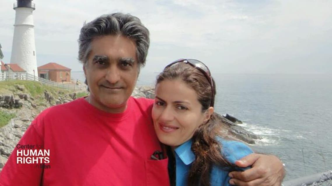 A file photo released by the Center for Human Rights in Iran (CHRI) shows Iranian-American dual national Karan Vafadari with his Iranian wife, Afarin Neyssari.