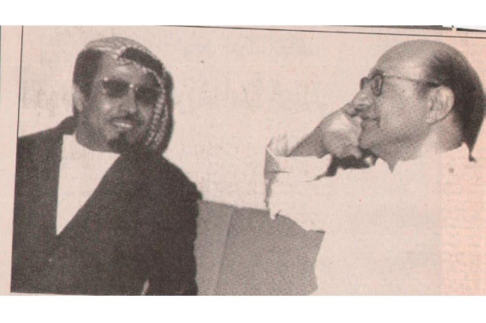 الفنان مطلق الذيابي مع الموسيقار محمد عبدالوهاب