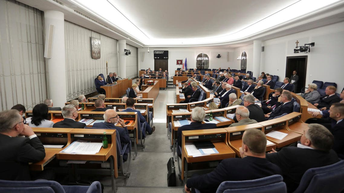 Senators attend a session at the Polish parliament in Warsaw on July 22, 2017. (File photo: Reuters)