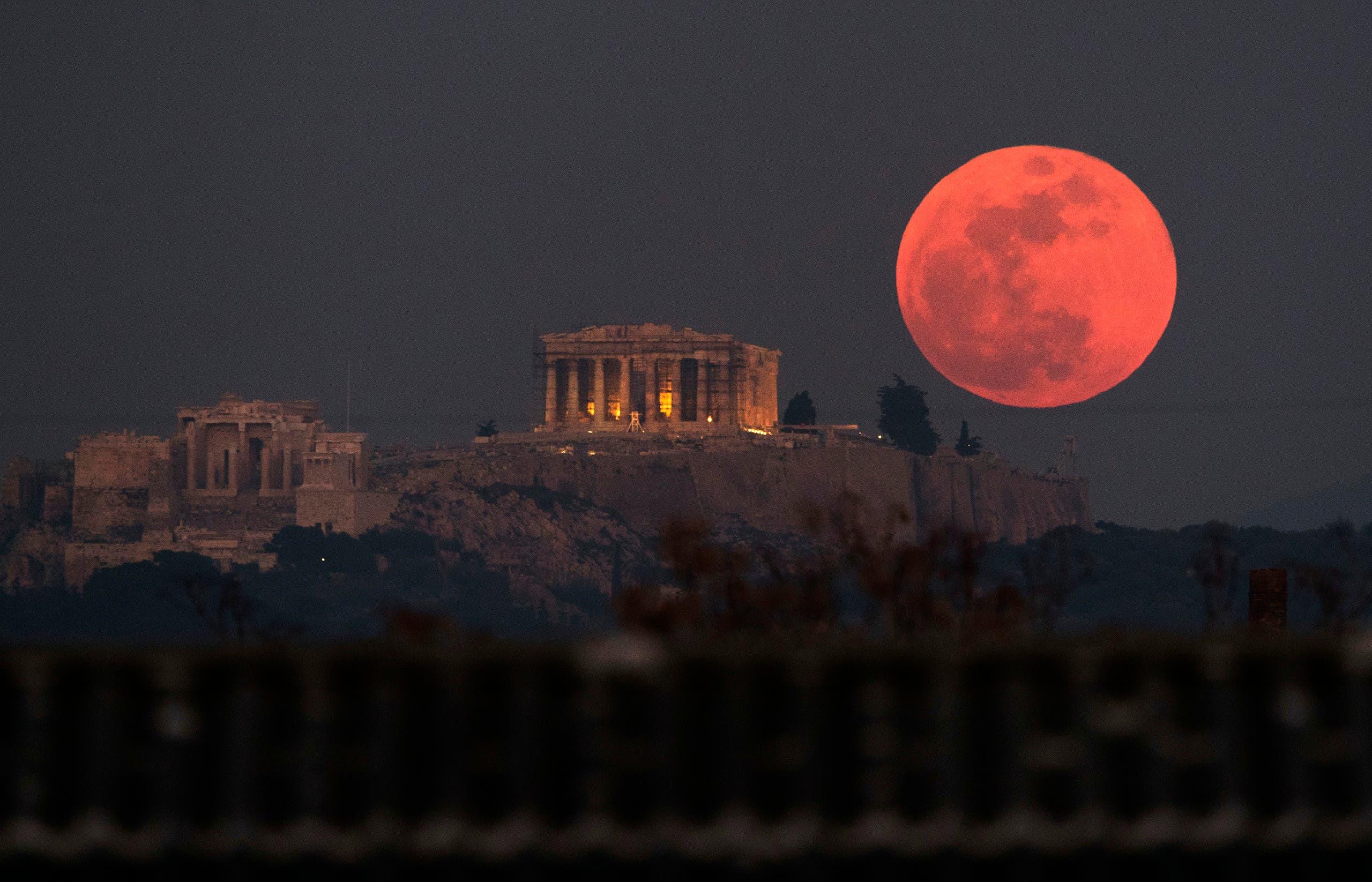 lunar eclipse. (AP)