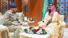 ولي العهد يبحث التعاون العسكري مع قائد الجيش الباكستاني