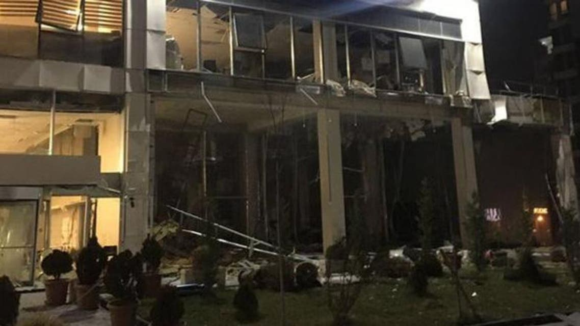 The explosion occurred in the boiler room of Ankara Tax Chamber in the Cukurambar district. (Supplied)