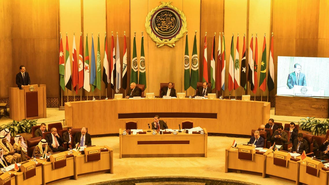 Arab Foreign Ministers meeting at the Arab League headquarters in Cairo on February 1, 2018. (AFP)
