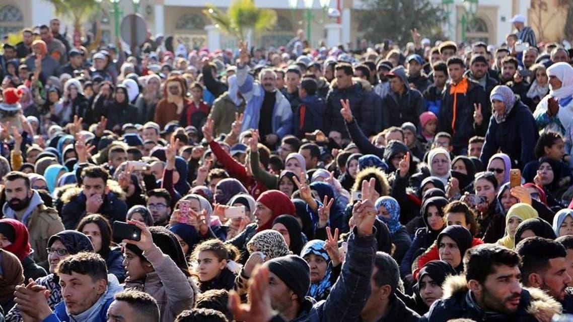 احتجاجات إثر مصرع شاب بانهيار منجم في جرادة مطلع أول الجاري