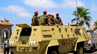 عناصر من القوات المصرية في سيناء