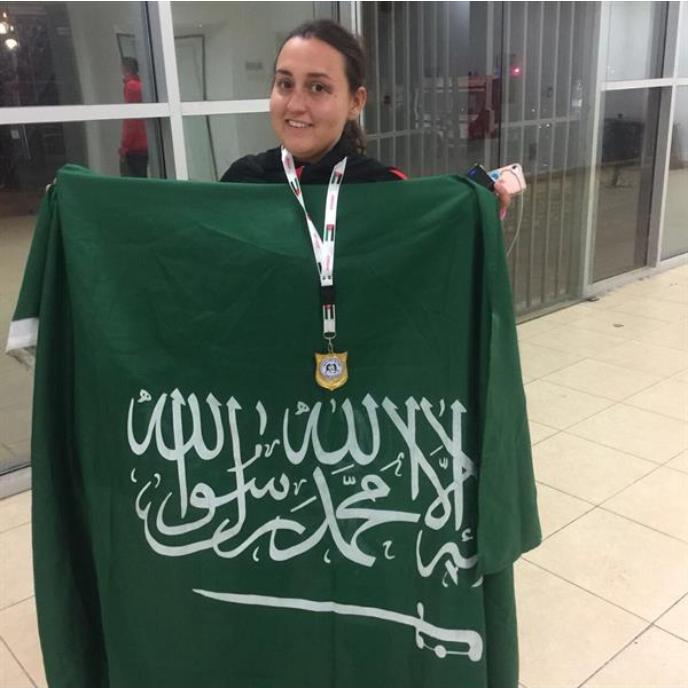 الملاكمة السعودية دُنى الغامدي