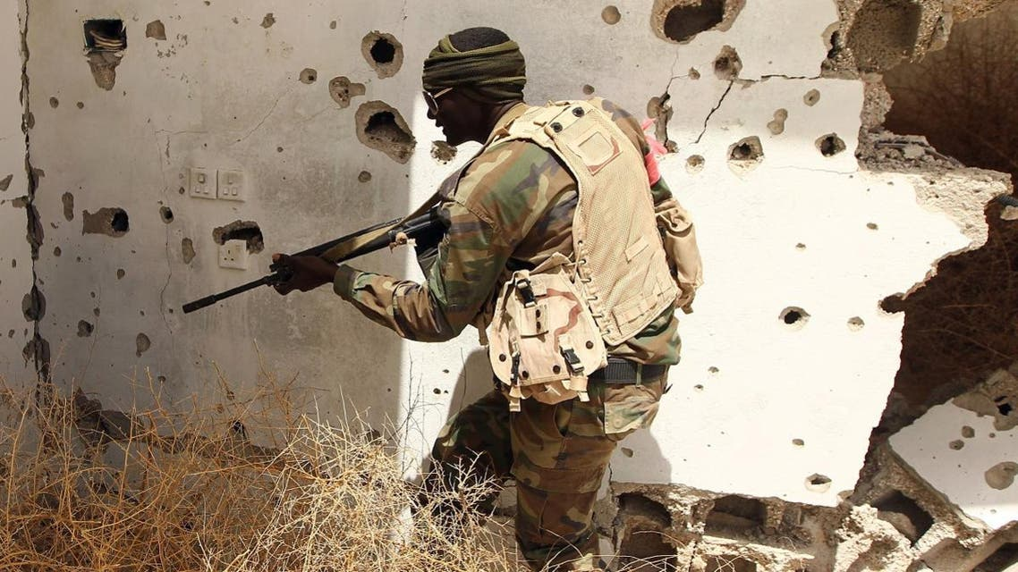 A member of the Libyan pro-government forces patrols a rural area on the outskirts of the eastern coastal city of Benghazi. (File photo: AFP)