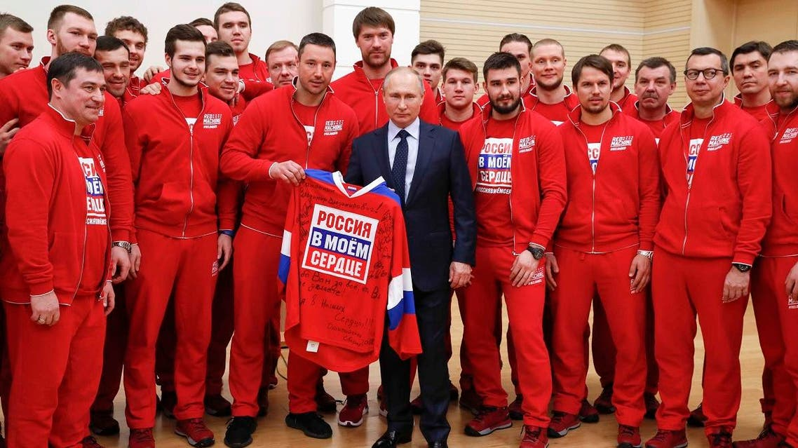 Russian President Putin attends a meeting with Russian athletes and team members, who will take part in the 2018 Pyeongchang Winter Olympic Games. (Reuters)