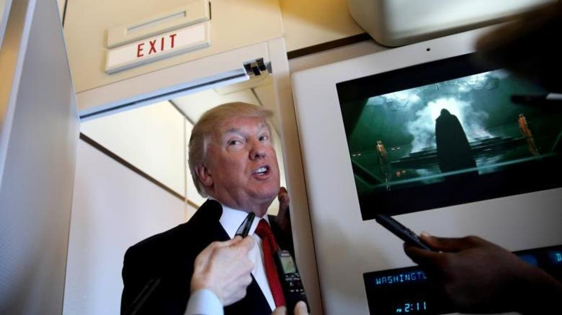 Scenes from Trump's travels aboard Air Force One