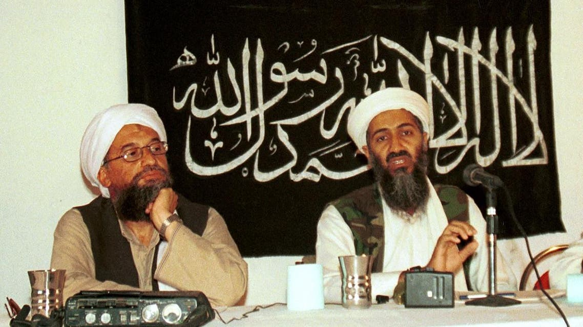 Ayman al-Zawahri, left, holds a press conference with Osama bin Laden in Khost, Afghanistan. (File photo: AP)