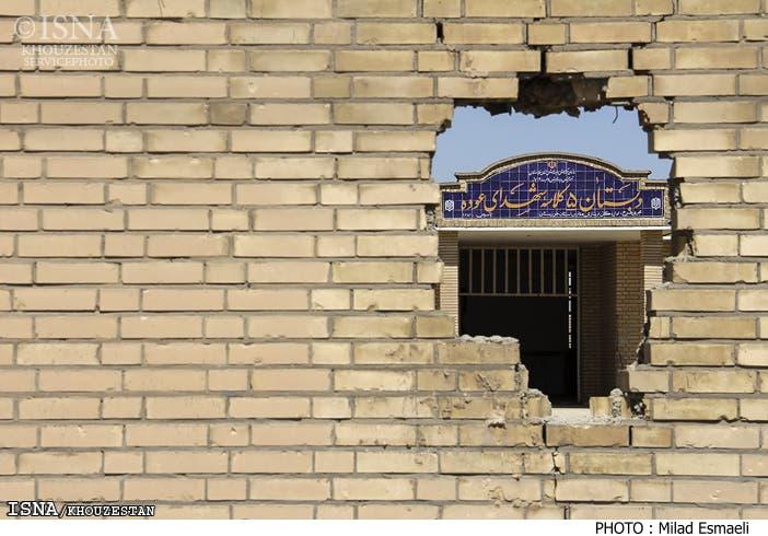 مدرسه روستای العوده که به حال خود رها شده و در حال ویرانی است