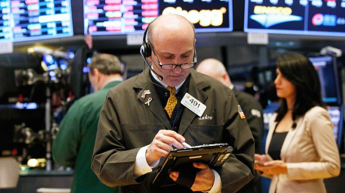 A trader works on the floor of the New York Stock Exchange in New York. (Reuters)