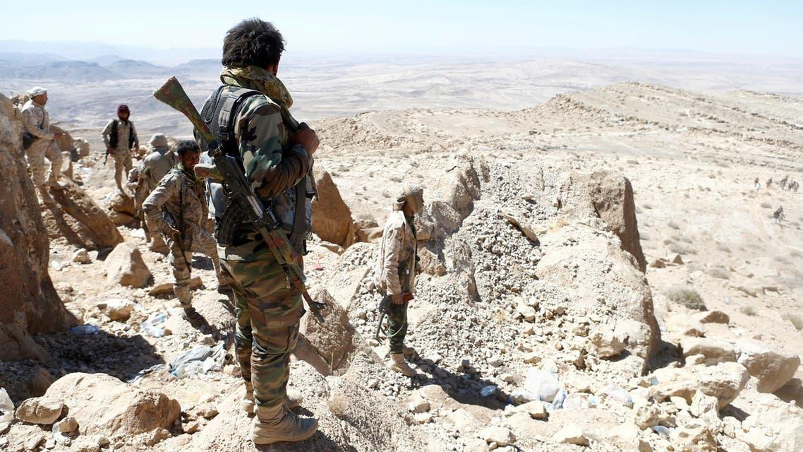 Yemeni army on a mountain in Sanaa. (Reuters)