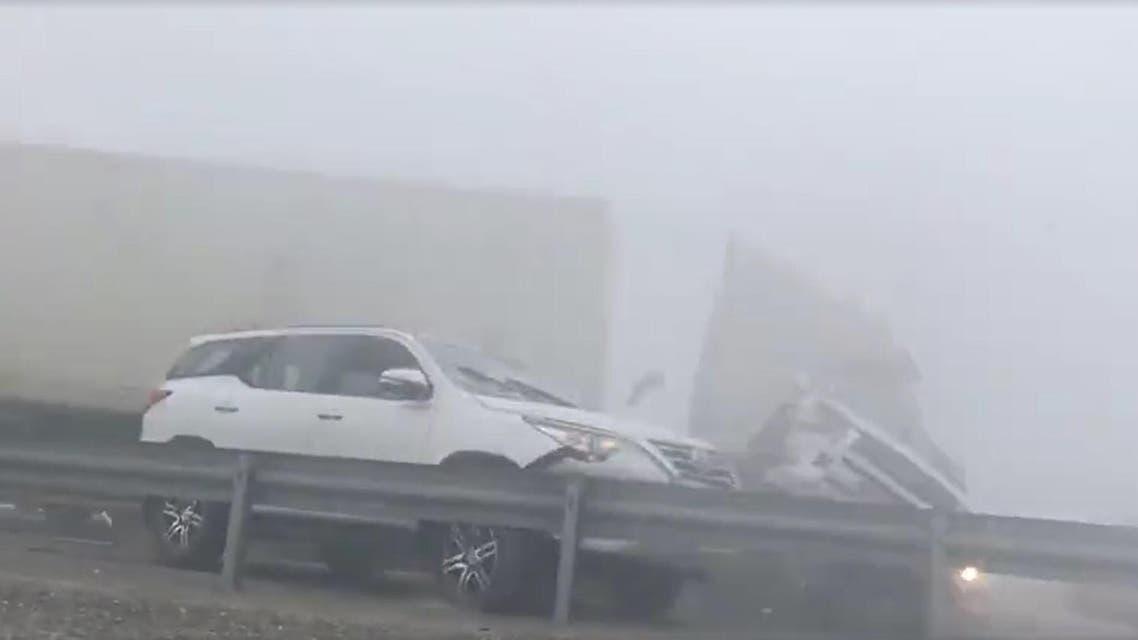 Abu Dhabi fog crash Facebook