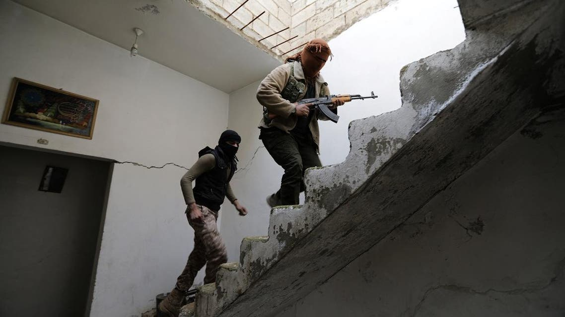 Turkey-backed Free Syrian Army fighters are seen in the eastern suburbs of al Bab. (Reuters)