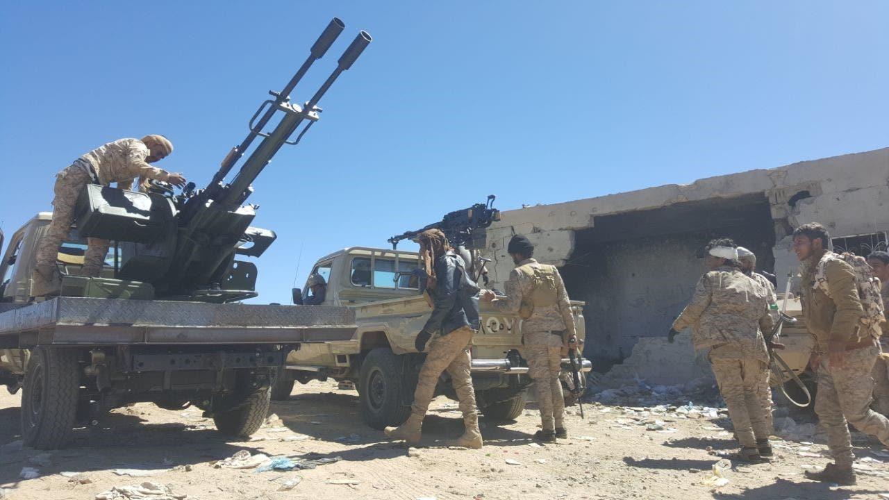 ارتش ملی یمن در منطقه مندبه در شمال استان صعده