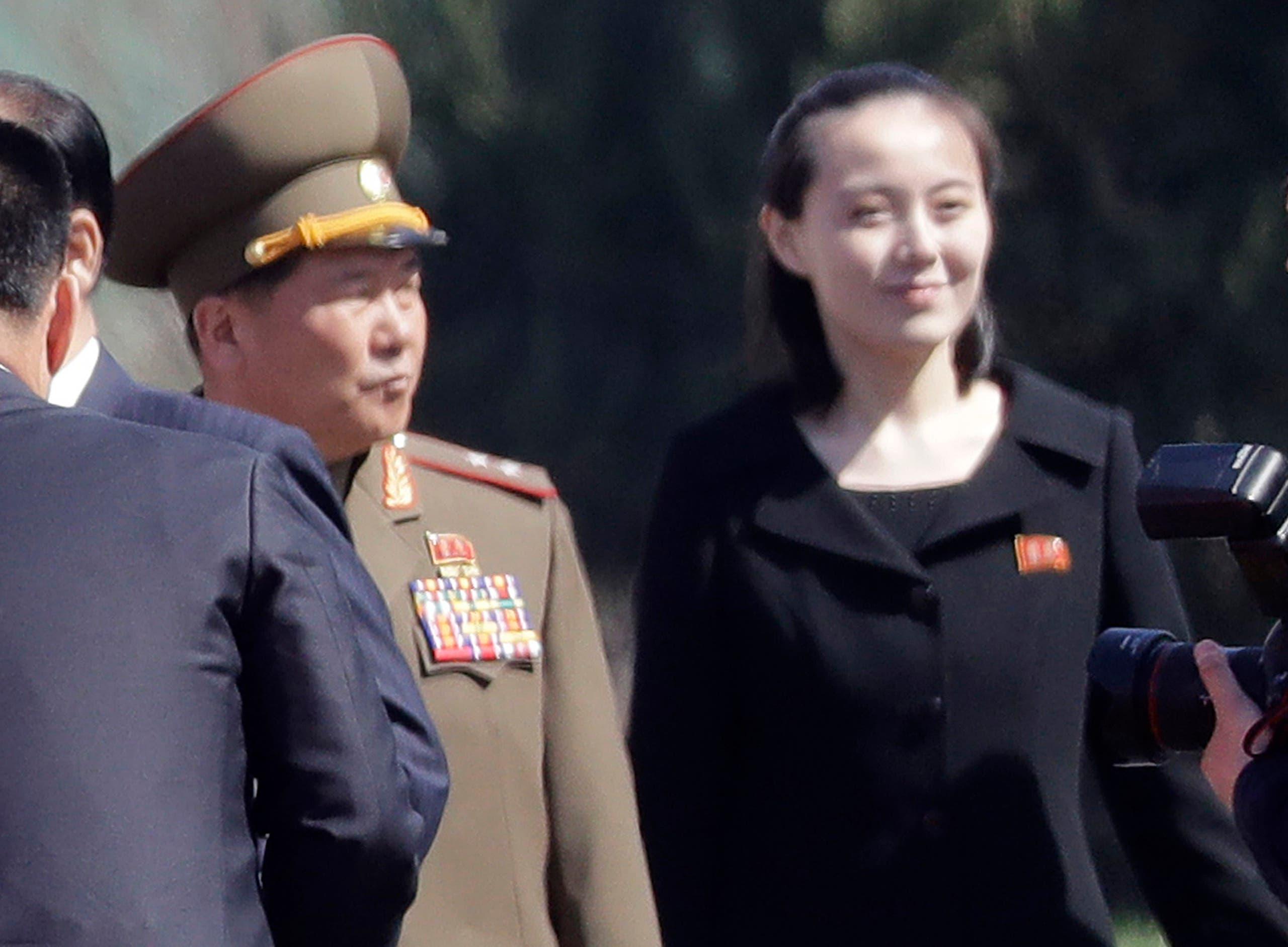شقيقة كيم خلال افتتاح مجمّع سكني في 2017