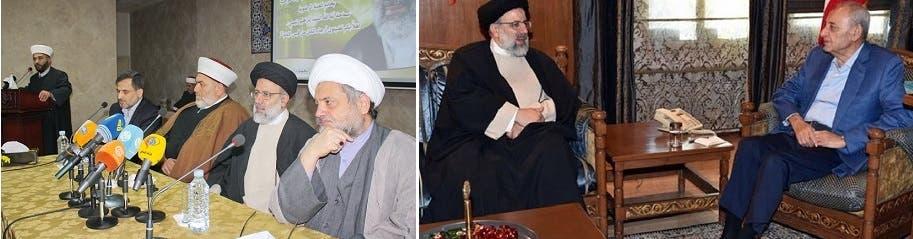 با نبیه بری رئیس پارلمان لبنان و مجمع علمای مسلمین ملاقات کرد اما تنها حزب از سفر او به لبنان اطلاع داشت