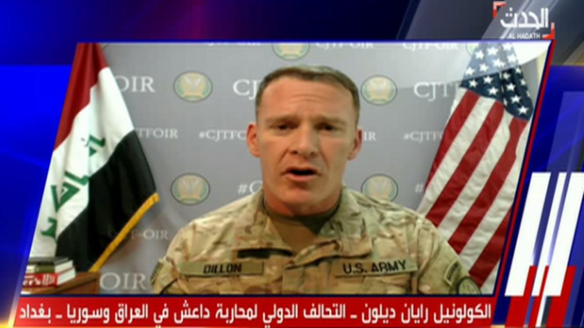 الكولونيل رايان ديلون، المتحدث باسم التحالف الدولي لمحاربة داعش في العراق وسوريا