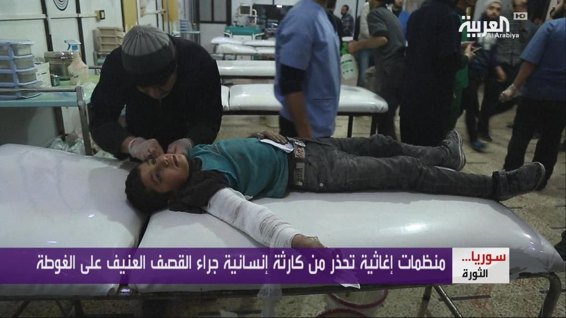 THUMBNAIL_ قصف عنيف على غوطة دمشق الشرقية