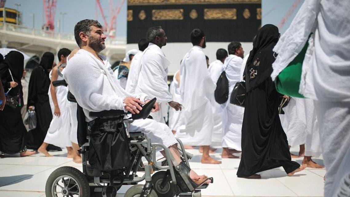 Man in wheel chair in makkah (AP)
